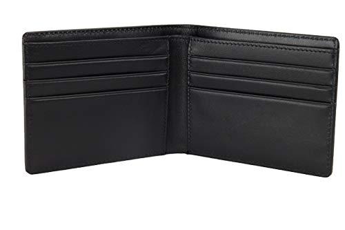 BULLAZO Fino Discreta, Geldbörse ohne Münzfach mit RFID Schutz, Leder, Schwarz