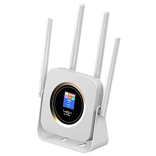 Wivarra CPE903B WiFi Box Enrutador WLAN MóVil Enrutador 4G Enrutador WLAN MóVil 150Mbps 2.4G Seguridad de Red para el Hogar (Enchufe de la UE)