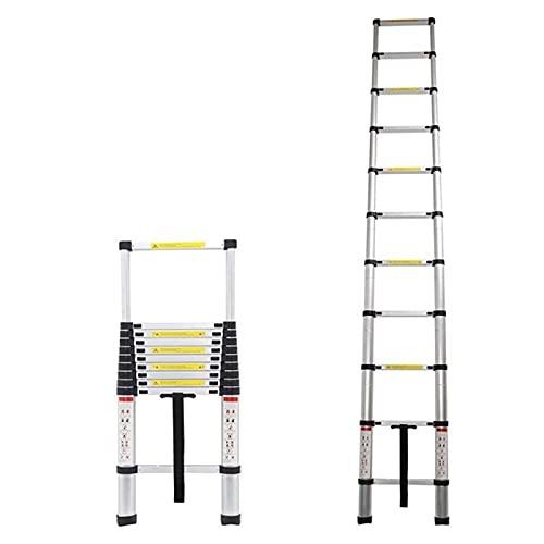 YUEDAI Barco rápido 2M Escaleras Plegables telescópicas Telescópicas Escalera de Aluminio Escalera de extensión de Engrosamiento de la casa con Bolsa, Escalera de Herramientas Multifuncional