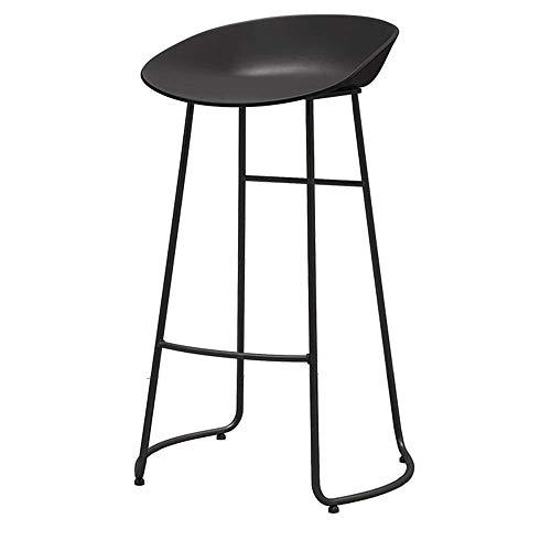 JIEER-C leerstoel barkruk hoge kruk Gewoon strijkijzer ronde buis voetsteun vrije tijd verkrijgbaar in twee kleuren (kleur: ZWART, grootte: 70CM) 70CM zwart