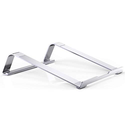 Soportes para Portátiles PC Soporte de enfriamiento vertical portátil de aleación de aluminio Plataforma ergonómica Ventilación bandeja Juego libro de escritorio Aumentar el bastidor soporte de elevac