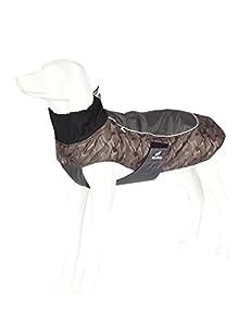 PALMFOX imperméable à l'eau Coques de chien Ripstop Polyester Doublure en molleton Protecteur de poitrine réglable en velcro Gilets à chien réfléchissant pour petits chiens Chiens moyens