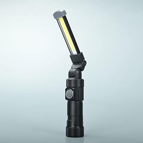 Lámpara de trabajo LED recargable, linterna de trabajo USB, lámpara de taller COB luces de inspección con base magnética para camping, exterior, reparación, garaje, camping, iluminación de emergencia