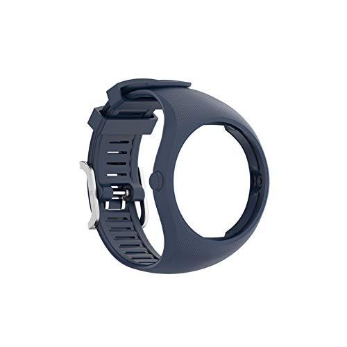 GYY Correas de Pulsera para Polar M200 Deportes SmartWatch Reemplazo Pulsera de Banda de Reloj con Herramientas Reloj Bandas de Correa (Color : Midnight Blue, Size : For Polar M200)
