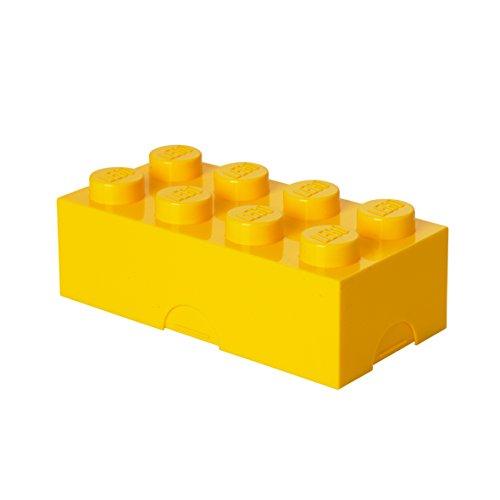 Room Copenhagen 40231732 LEGO Lunchbox Brotdose, 8 Noppen, Yellow, 20 x 10 cm