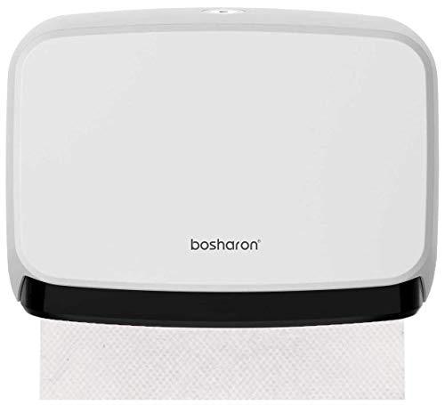 Bosharon Paper Towel Dispenser Wall Mount White, Multifold Towel Dispenser, C-Fold Paper Towel Dispenser, Bathroom Tissue Holder (White)