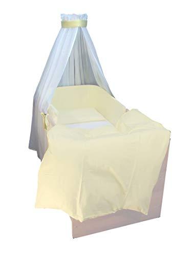 Kuli-Muli 179 hemel voile voor het babybed, geel