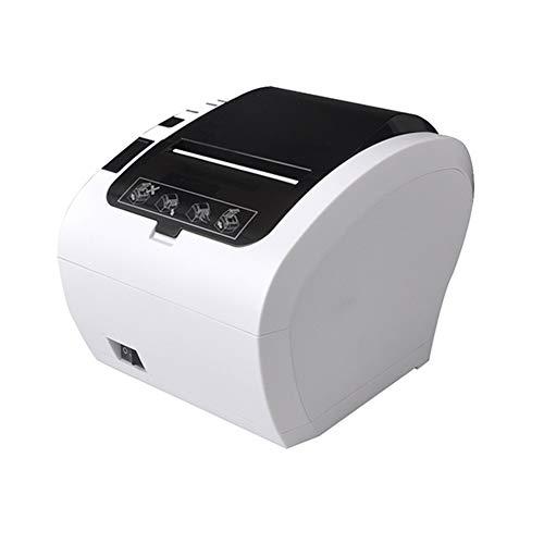 Thermo-Belegdrucker, 80Mm 58Mm Thermo-Belegdrucker Automatische Cutter 300Mm / S Barcode Logo USB Ethernet Bluetooth WiFi Bill Drucker,Weiß