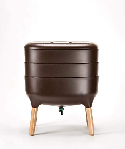 Design-Komposter Komposter Wurmkomposter Wohnraumkomposter Küchenkomposter, Farbe:Braun
