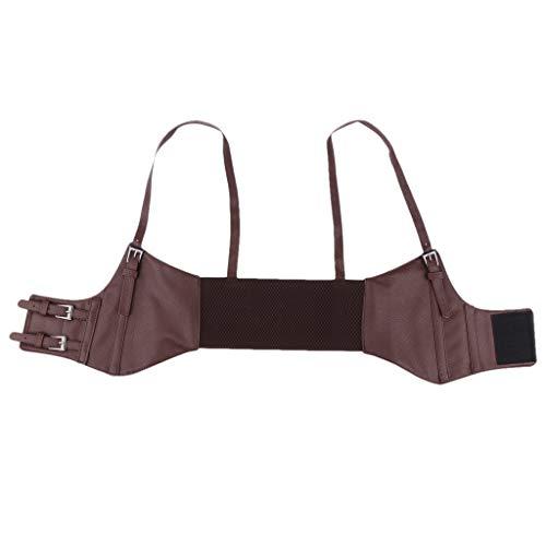 SDENSHI Mujeres Niñas Cuero Estilo Occidental Cinturón de Cintura Ancha Correas Underbust Waspie Corset - marrón, tal como se describe