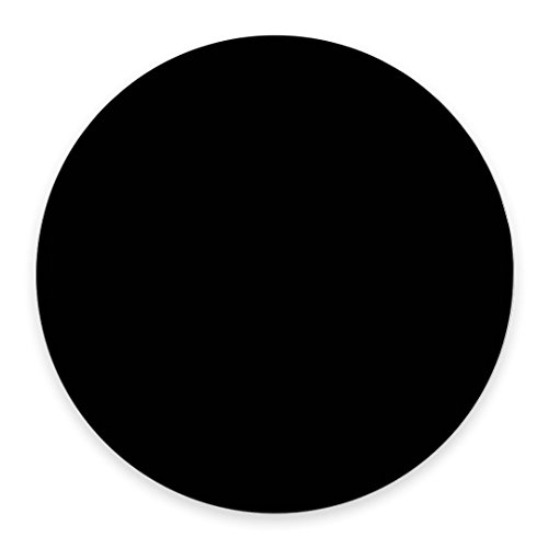 Single Circular Blank Mouse Pad - Black - 7.87' Round Diameter (200mm x 200mm x 3mm)