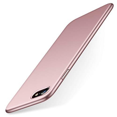 TORRAS Ultra Dünn für iPhone SE 2020/8/7 Hülle mit Panzerglas [1 Hülle + 1 Panzerglas] Slim Hülle für iPhone SE Hülle/iPhone 8 Hülle/iPhone 7 Hülle Handyhülle für iPhone 7/8/SE 2020 - Rose Glod