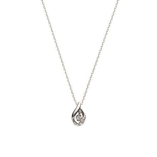 [ヴァンドーム青山] VENDOME AOYAMA K18WG ダイヤモンド ドロップ ネックレス AGBN619440DI