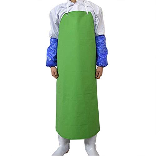 mhde Aprons Mouwloos Pvc schort waterdichte slagers schorten voor vrouw anti-olie chef-kok koken schort voor mannen schoonmaken slagers gereedschap B1 Groen