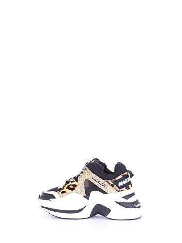 NAKED WOLFE Sneaker Track Gold Glitter Taglia 37 - Colore ORO/Nero/LEOP.