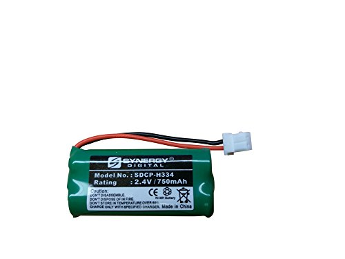 Synergy Digital Cordless Phone Battery, Works with Att EL52260 Cordless Phone, (Ni-MH, 2.4V, 750 mAh) Ultra Hi-Capacity, Compatible with AT&T BT166342, BT266342, BT183342, BT283342 Battery