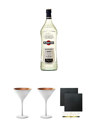 Martini Bianco Vermouth 1,5 Liter + Stölzle Cocktail-und Martiniglas Olympic Serie 2 Stück