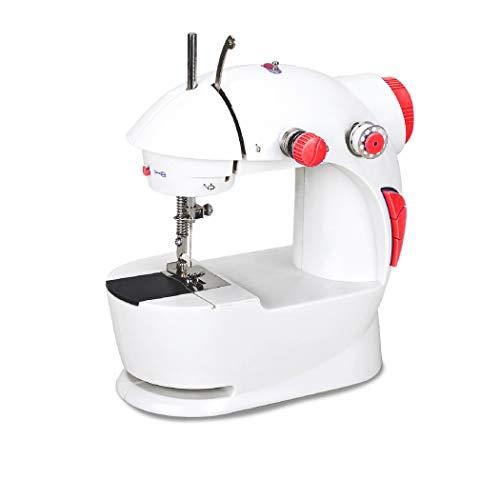AZOREX Máquina de Coser Portátil con Pedal Accesorios de Bricolaje Máquina de Coser de Manos 2 Nivel Velocidades (Normal)
