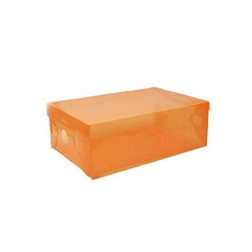 Caja de zapatos apilable, 10pcs zapatos caja organizador transparente a prueba de polvo caja de almacenamiento superpuesta gabinete de zapatos alebrado zapato de zapato estante de zapatos Para guardar