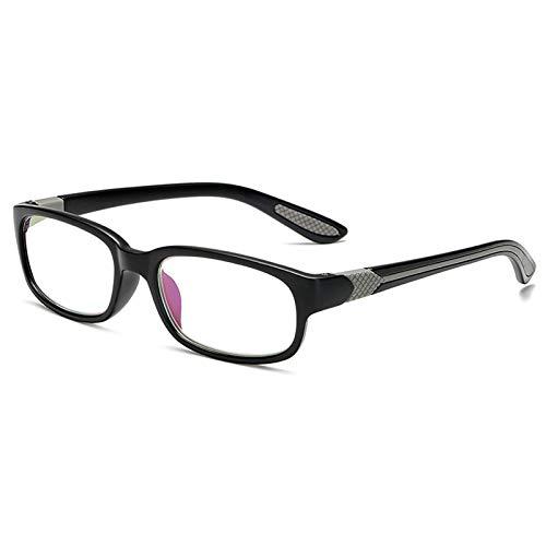 Xin Hai Yuan El Filtro De Bloqueo De Luz Azul Profesional Reduce La Fatiga Ocular Digital Gafas De Lectura para Dormir para Juegos De Computadora Transparentes Y Regulares,Gris,+1.5