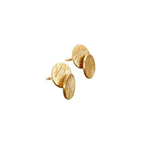 JOIDART – PENDIENTES DORADOS ARAI | Diseñado por Sara Domènech | Colección Arai | Pendientes medianos tipo aros de metal con baño de oro