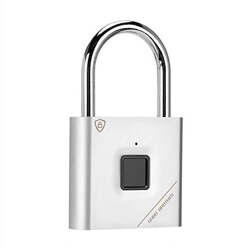 Smart Fingerprint Türschloss Keyless Suitcase Padlock Diebstahlsicherung USB-Aufladung