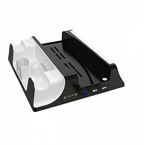 YepYes Soporte PS5 con Ventilador de refrigeración y estación de Carga de Doble Controlador Compatible con Playstation 5 PS5 Consolecarge rápidamente en Aproximadamente 2 Horas