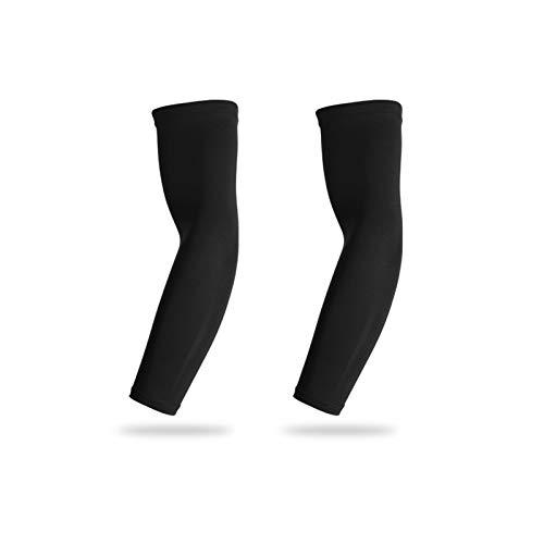 Mangas de brazo para hombres 2 pares Unisex enfriamiento Mangas de brazo deportivo Brazo de compresión Manga de compresión Ciclismo Ciclismo Brazo Calentador de verano Running UV Protección Voleibol S