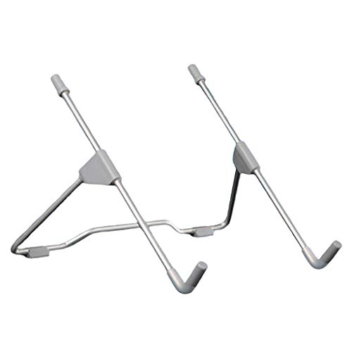 P Prettyia Laptop Riser Stand Portable, Computer & Notebook Stand Holder for Desk, Laptop Lift, Height Adjustable, for MacBook, HP, Lenovo (10-17'') - Gray