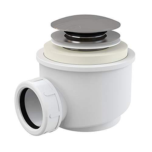 AlcaPlast A465 Ablaufgarnitur Duschablauf mit Siphon ø52mm Ablaufbohrung Abdeckung ø70mm CLICK/CLACK, Zubehör:ohne Ablaufzubehör