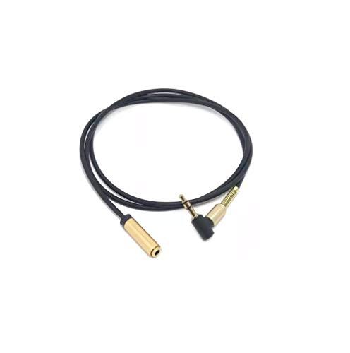 C63® reg; Câble plat d'extension audio/micro Jack pour prise casque Mâle à femelle 1 m x 3,5 mm