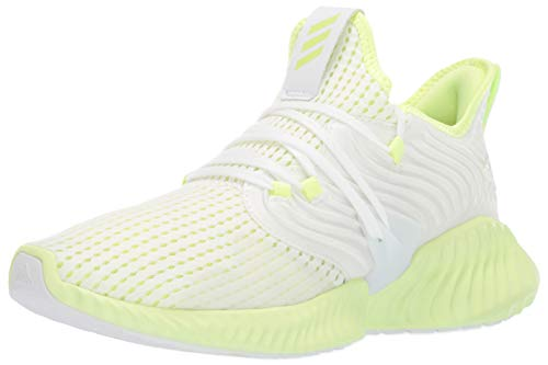 adidas Men's Alphabounce Instinct CC, White Yellow, 9.5 M US