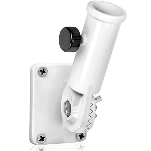 Anley Multi-Position Flag Pole Mounting Bracket with Hardwares - Made of Aluminum - Strong and Rust Free - 1 Diameter (White)