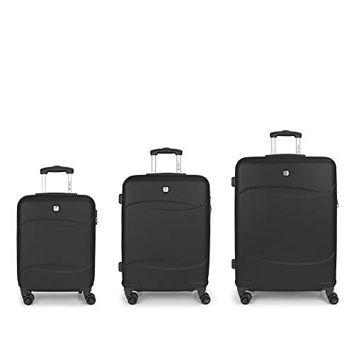 Gabol Orleans Set of 3 Suitcases C22-M-L Black