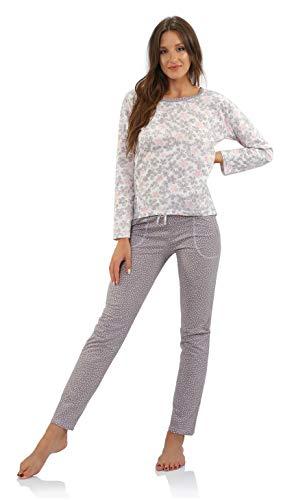 Sesto Senso® pyjama dames lang of 3/4 tweedelige pyjama 100% katoen lange slaapbroek met tas set nachtkleding