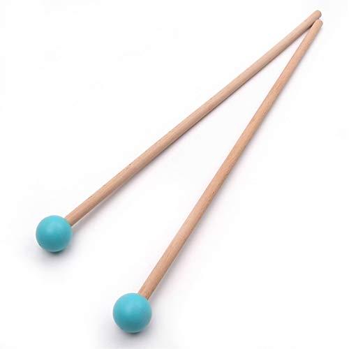 1 Paar Professionelle Xylophon Marimba Mallet Schlagzeugstöcke Schlagzeugstimmen Länge 365mm Musikinstrument Zubehör (Color : Blue)