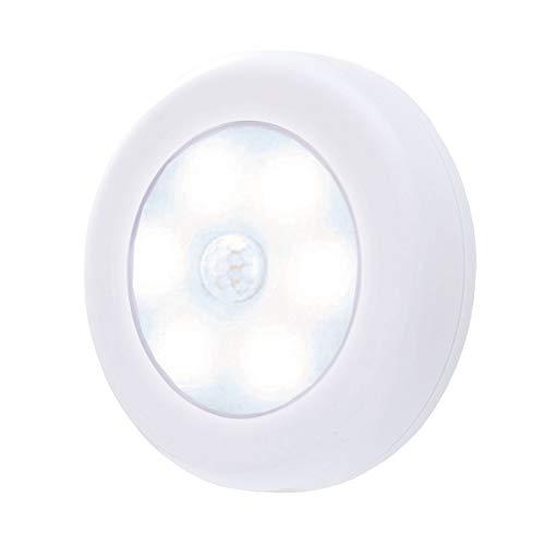 Apollo センサーライト LED 照明 人感センサー 屋内専用 非防水タイプ 電池式 マグネット着脱式 丸型 小型 フットライト ナイトライト (寒色)