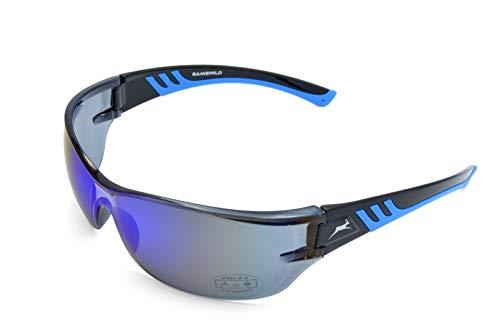 Gamswild Sonnenbrille WS8232 Sportbrille Skibrille Damen Herren Fahrradbrille Unisex | blau | schwarz | weiß, Farbe: Blau