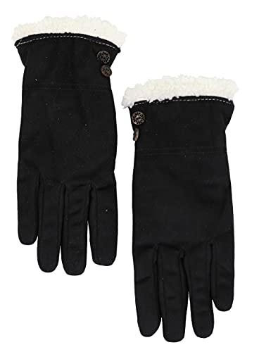 isotoner Women's Microsuede smartDRI smarTouch Sherpa Lined Winter Gloves, Medium