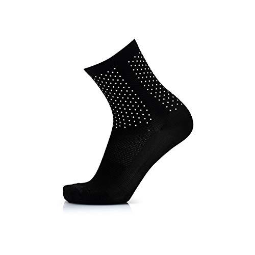 MB Wear Chaussettes Reflective-Noir-S/M (35-40) Mixte Adulte, FR : M (Taille Fabricant