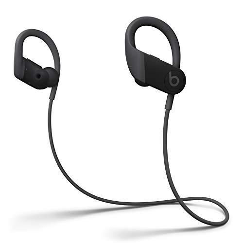 Powerbeats Wireless High-Performance In-Ear Kopfhörer - Apple H1 Chip, Bluetooth der Klasse 1, 15 Stunden Wiedergabe, Schweißbeständige In-Ear Kopfhörer - Schwarz (Neuestes Modell)