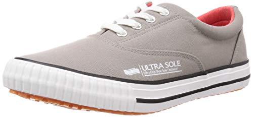 [マルゴ] 作業靴 紐付きスリッポン 撥水加工 耐滑 ウルトラソール 70 グレー 24 cm 3E