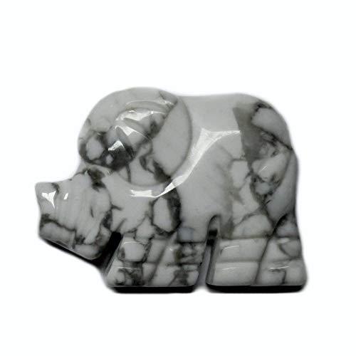 Magnesit Elefant Edelstein Anhnger Einhnger Schmuck Kette Kraftstein Krafttier Glcksbringer Feng Shui Liebe Wohlstand Partnerschaft Geschenk A++ Qualitt