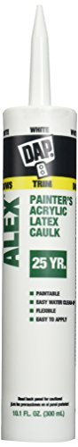 Dap 18670 Alex White Painter's Acrylic Latex Caulk and Silicone Sealant, Case of 12-10.1-Ounce Cartridges