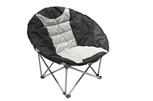 Homecall XXL Camping folding moonchair 600D polyester black creamy-white