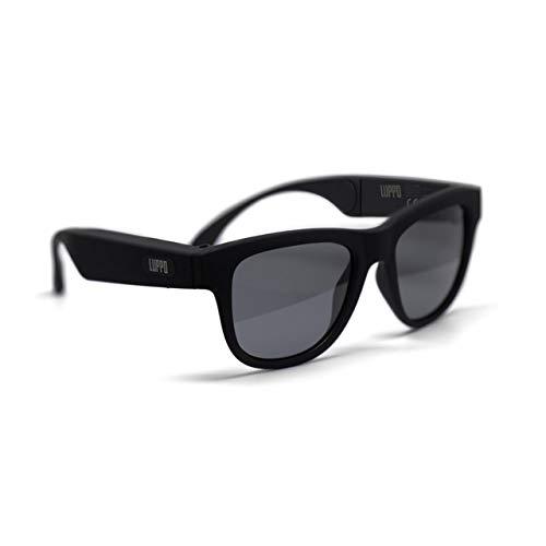 LUPPO - Occhiali da sole polarizzati con auricolari Bluetooth e microfono, colore: nero