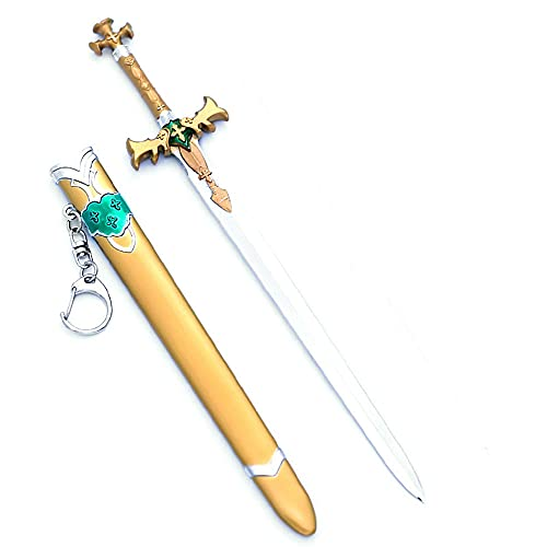 Sword Art Online Keychain, para Alice·Synthesis, accesorio de cosplay, modelo de arma de espada, llavero de metal para amantes del anime (22cm)