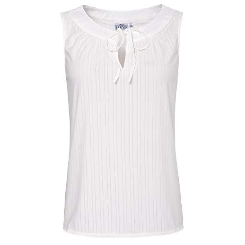 Hess Damen Trachten-Mode Trachtenshirt Bine in Ecru traditionell, Größe:40, Farbe:Ecru