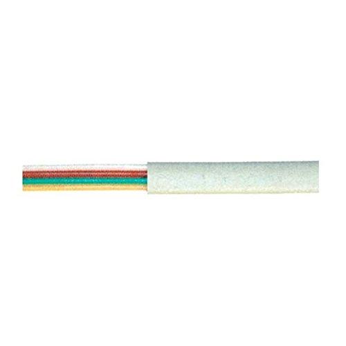 MANAX® Telefonkabel Flachkabel Verlegekabel 4-adrig (50,0 m weiß)