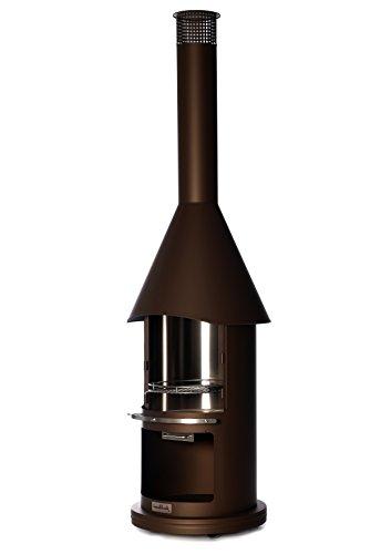 Buschbeck Grillkamin Auckland, braun metallic, 65 x 65 x 230 cm